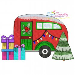 Christmas Caravan-9 Embroidery Design