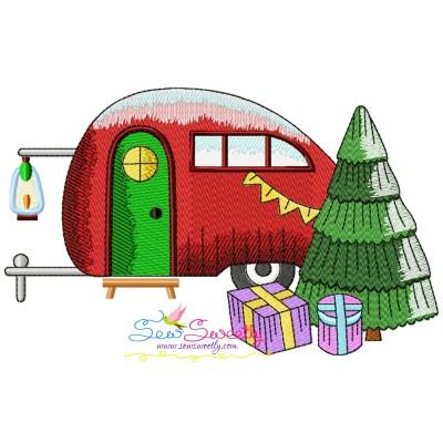Christmas Caravan-8 Embroidery Design