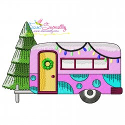 Christmas Caravan-6 Embroidery Design