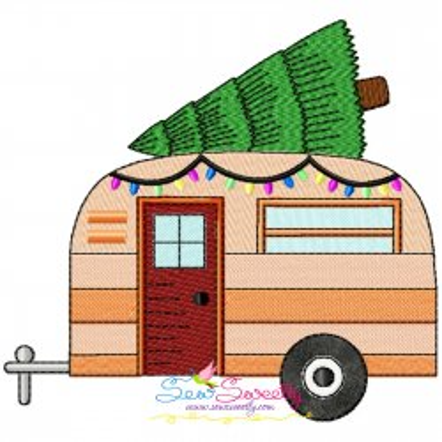 Christmas Caravan-1 Embroidery Design