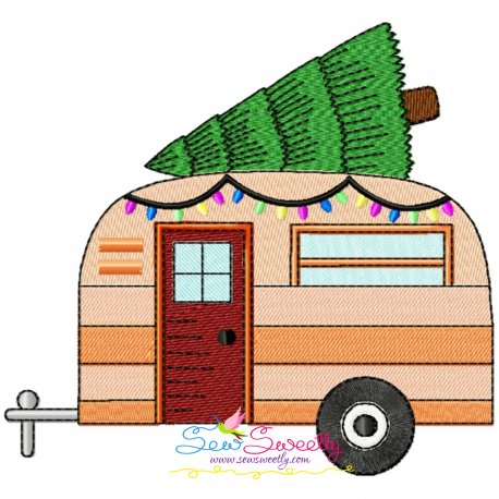 Christmas Caravan-1 Embroidery Design Pattern- Category- Christmas Designs- 1