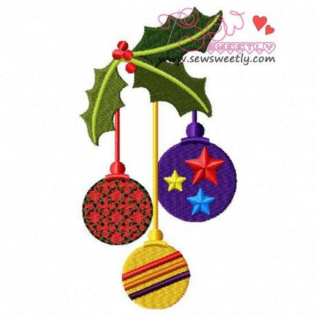 Beautiful Christmas Ornaments-1 Embroidery Design
