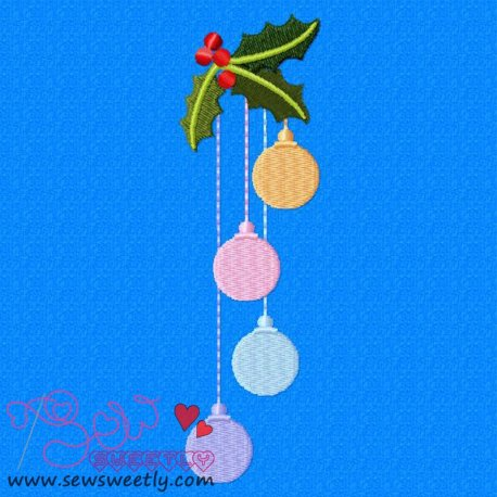 Cute Christmas Ornaments-2 Embroidery Design