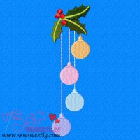Christmas Ornaments-2 Embroidery Design