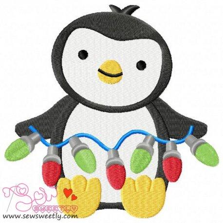 Cute Christmas Penguin-4 Embroidery Design