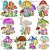Gnome Mushroom Houses Embroidery Design Bundle
