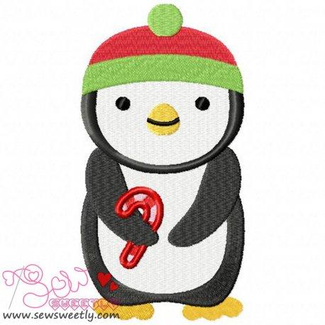 Cute Christmas Penguin-5 Embroidery Design