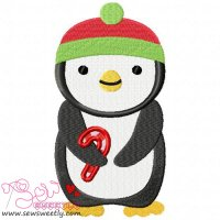 Christmas Penguin-5 Embroidery Design