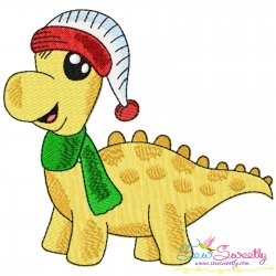 Christmas Dinosaur-3 Embroidery Design Pattern- Category- Christmas Designs- 1