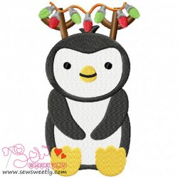 Christmas Penguin-6 Embroidery Design