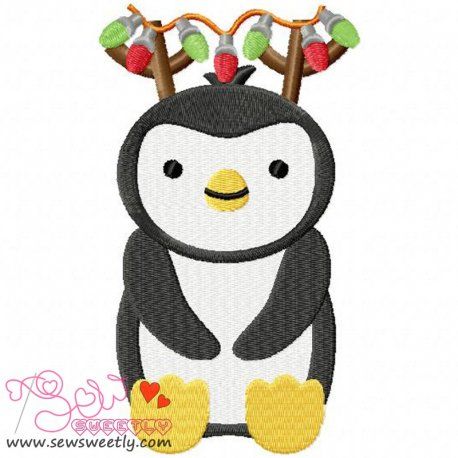 Christmas Penguin-6 Embroidery Design Pattern- Category- Christmas Designs- 1
