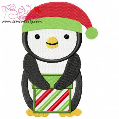 Christmas Penguin-8 Embroidery Design Pattern- Category- Christmas Designs- 1