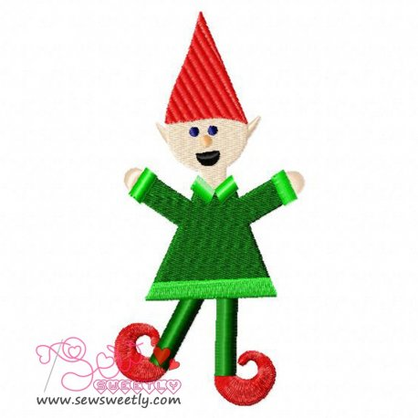 ELF Embroidery Design Pattern- Category- Christmas Designs- 1