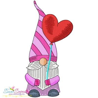 Valentine Gnome-9 Embroidery Design