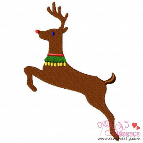 Cute Reindeer-2 Embroidery Design