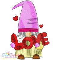 Valentine Gnome-8 Embroidery Design