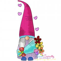 Valentine Gnome-7 Embroidery Design
