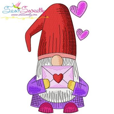 Valentine Gnome-6 Embroidery Design