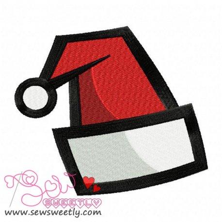 Beautiful Santa Hat Embroidery Design