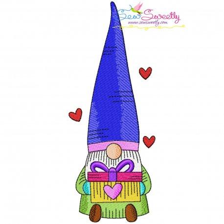 Valentine Gnome-4 Embroidery Design