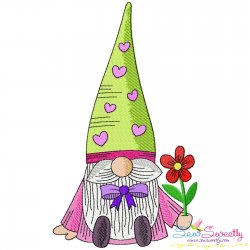 Valentine Gnome-3 Embroidery Design