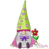 Valentine Gnome-3 Embroidery Design