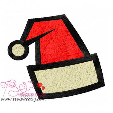 Beautiful Santa Hat Applique Design