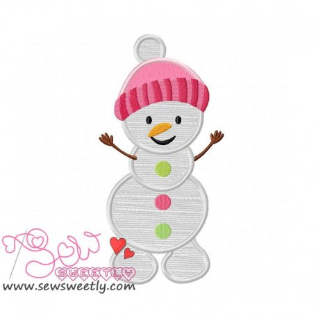 Cute Snowman-2 Applique Design