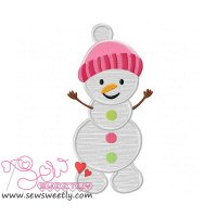Snowman-2 Applique Design