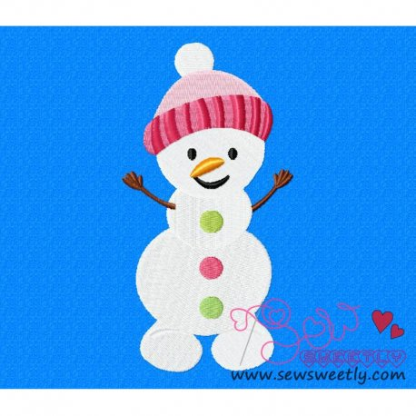 Cute Snowman-2 Embroidery Design