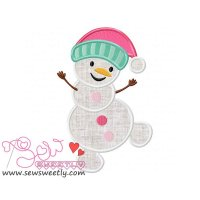 Snowman-4 Applique Design