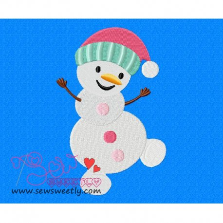 Cute Snowman-4 Embroidery Design