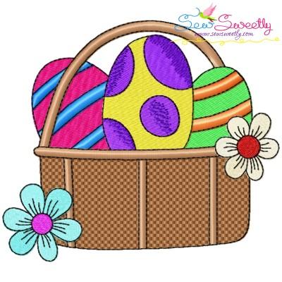 Easter Eggs Basket-3 Embroidery Design