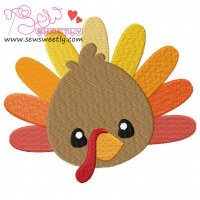 Cute Turkey Embroidery Design