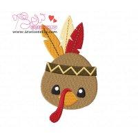 Native American Turkey Embroidery Design