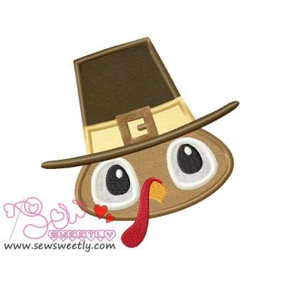 Pilgrim Turkey Boy Applique Design