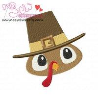 Pilgrim Turkey Boy Embroidery Design