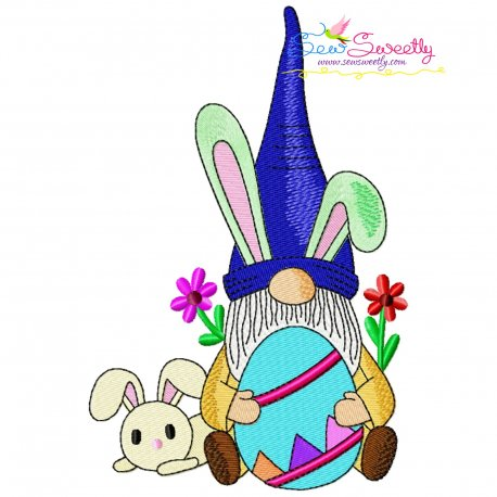 Easter Gnome And Bunny-8 Embroidery Design