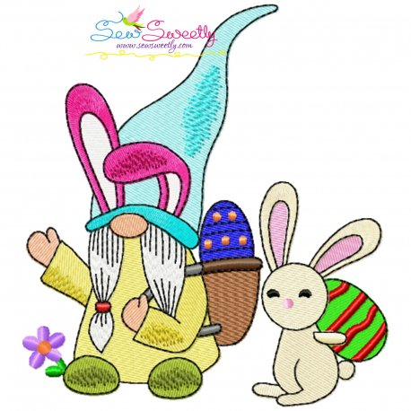 Easter Gnome And Bunny-6 Embroidery Design