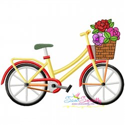 Spring Flowers Bicycle-2 Embroidery Design