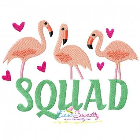Flamingo Squad Embroidery Design
