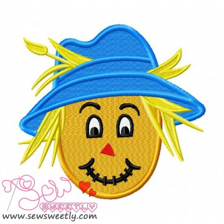Cute Scarecrow-1 Embroidery Design For Halloween