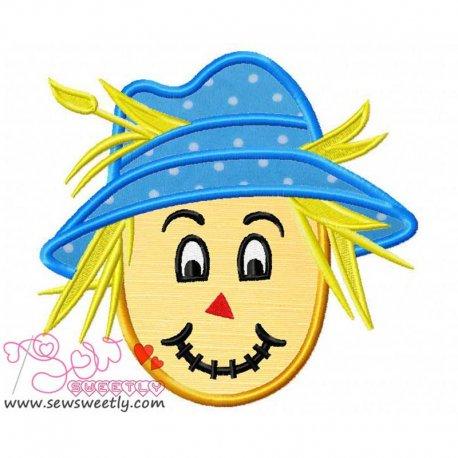Cute Scarecrow-1 Applique Design For Halloween