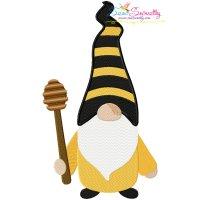 Gnome Honey Dipper Embroidery Design