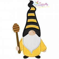 Gnome Honey Dipper Applique Design