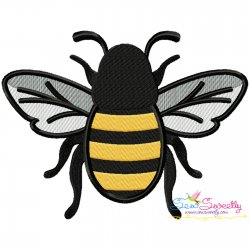 Honey Bee-3 Embroidery Design