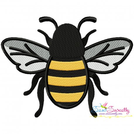 Honey Bee-3 Embroidery Design Pattern- Category- Insects And Bugs Designs- 1