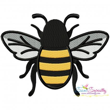 Honey Bee-3 Embroidery Design