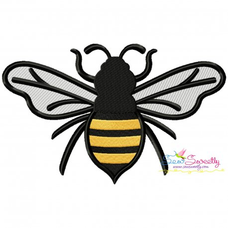 Honey Bee-2 Embroidery Design Pattern- Category- Insects And Bugs Designs- 1