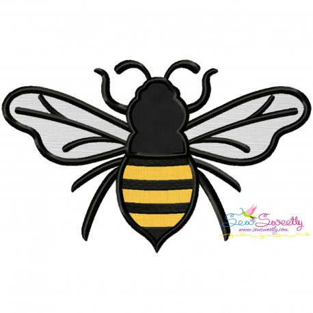 Honey Bee-2 Applique Design Pattern- Category- Insects And Bugs Designs- 1